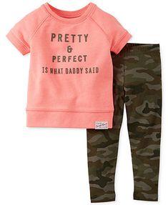 Carter's Baby Girls' 2-Piece Top & Camo Pants Set