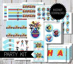 SuperHero Girls Birthday Party KIT- Instant Download | DC comics | DC Super Hero Girls | Super Girls- Instant Birthday Non Personalized by APartyPrintable on Etsy https://www.etsy.com/listing/499541453/superhero-girls-birthday-party-kit