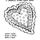 This Valentine color sheet will be a quick refresher for even and odd numbers.      Graphic courtesy of KPM Doodles    For more freebies and ideas,...