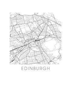 Edinburgh Map Print by iLikeMaps on Etsy