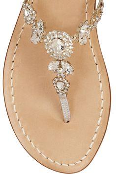 d6c4550c44912 Musa - Swarovski crystal-embellished metallic leather sandals