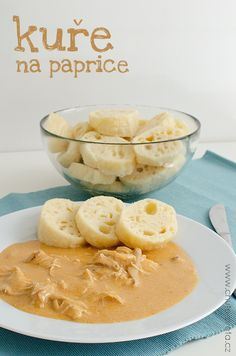 kuře na paprice Bon Appetit, Camembert Cheese, Cantaloupe, Cereal, Food And Drink, Lunch, Fruit, Breakfast, Recipes