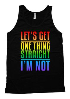 Gay Pride Tank  Welcome to Festiviteees - Holiday and Celebration Shirts for Everyone! ▄▄▄▄▄▄▄▄▄▄▄▄▄▄▄▄▄▄▄▄▄▄▄▄▄▄▄▄▄▄▄▄▄▄▄▄▄▄▄▄▄▄▄▄▄▄▄▄▄▄▄  Our shirts are digitally printed with the latest and greatest in direct to garment printing technology. Digital printing delivers a smooth and soft finish that will not crack or fade. The shirts are handmade to order using only the finest quality, longest-lasting, environmentally friendly inks. We DO NOT use heat transfers, our designs are made to last…