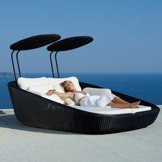 Cane-Line Rest Savannah Modular Sunbed #outdoor #Sunbed