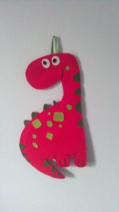 Felt Dinosaur wall hanging 1