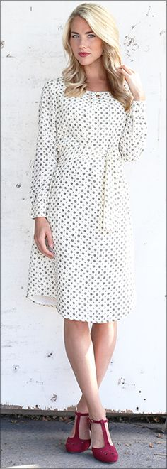 Chloe Shift Dress - Bubble Print [BDS1403] - $59.99 : Mikarose Boutique, Reinventing Modesty