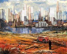 "Saatchi Art Artist George Flay  ; Collage, ""Death of an old friend , Original Sold "" #art"