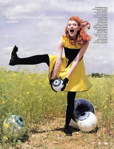 Vogue UK enlisted Tim Burton (who of course directed one adaptation of Charlie and the Chocolate Factory and produced another for James and the Giant Peach), actors Helena Bonham Carter, Imelda Staunton and Jamie Bell, and musician Lightspeed Champion amongst others, to help bring to life Roald Dahl's powerful vision through fashion.    Shot by Tim Walker, the editorial takes its name from Dahl's successful short story collection - 'Tales of the Unexpected'.