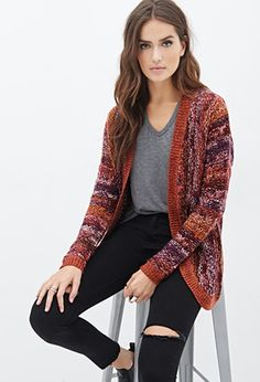 Contemporary Multi-Tone Striped Knit Cardigan | Forever 21 - 2000119586