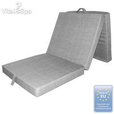 VitaliSpa® Folding Mattress Folding Bed Campbed Sofabed Mattress Cot Grey