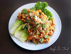 Warm Sweet Potato Salad with curried mango dressing   Simply Love Food
