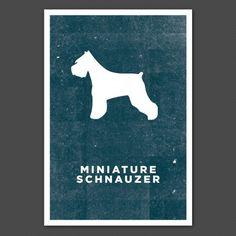 Miniature Schnauzer Hound Print from www.cratestyle.com