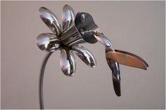 Silverware Yard Art | Silverware Art – Learn How to Make a Spoon Ring