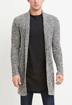 Shawl Collar Marled Cardigan | 21 MEN - 2000156960