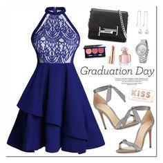 """Congrats, Grad: Graduation Day Style"" by oshint ❤ liked on Polyvore featuring Alexandre Birman, Tod's, Vapour Organic Beauty, Estée Lauder, Guerlain and Kate Spade"