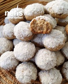 Sweet Cookies, Arabic Food, Turkish Recipes, Tiramisu, Delicious Desserts, Biscuits, Muffin, Food And Drink, Bread