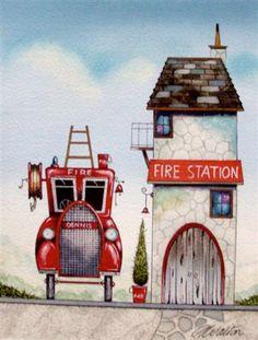 Gary Walton - The Fire Station (Original)