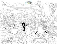 Adventure Time Coloring Pages é foda