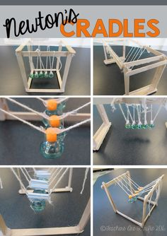 STEM Challenge: Learn about Newton's 3rd Law of Motion and then build a device to prove it! Here's a fabulous challenge to build a Newton's Cradle!