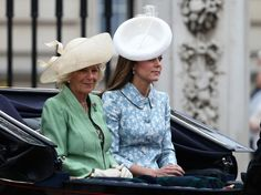 June 13, 2015 - Trooping The Colour - Camilla, Duchess of Cornwall and Catherine, Duchess of Cambridge are seen during the annual Trooping The Colour ceremony at Horse Guards Parade in London, England. It is Kate Middleton's first appearance since giving birth to Princess Charlotte.