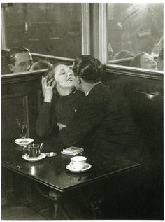BRASSAI, Lovers in a Café on the Place d'Italie, Paris, 1932