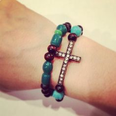 Cross wrap bracelet by AroundMyWrist on Etsy, 16.00