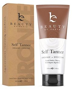 Self Tanner - Sunless Tanning Lotion With Organic & Natural Ingredients - Non-Streaking Cream Develops a Bronzed, Golden Tan in a Few Hours - Dye-Free Formula is For All Skin Types, Light, Fair, Medium, Dark and Sensitive. Made in the USA Beauty by Earth http://www.amazon.com/dp/B00L2PB3BW/ref=cm_sw_r_pi_dp_r01uwb0DW98HS