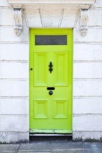 neon green #yellow #door #street