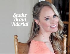 Loving this Snake Braid Tutorial **with video** Gorgeous!