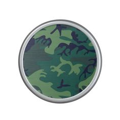 Cool Green Military Camouflage Design Speaker