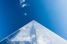 结构, 建设, 玻璃, 玻璃, 高层, 低角度拍摄, 天空, 窗口