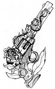 Guns and Roses Tattoo Drawings