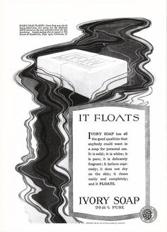 1919 IVORY SOAP Original Victorian Advertisement It Floats by phorgotten