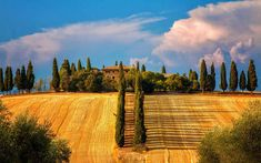 Farm house in Tuscany, Pienza province of Siena Tuscany region Italy Elba, Siena, Places To Travel, Places To Visit, Wallpapers En Hd, Desktop Backgrounds, 6 Photos, Pictures, Beautiful Places In The World