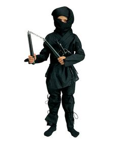 Take a look at this Black Ninja Warrior Dress-Up Set - Kids by RG Costumes on #zulily today!