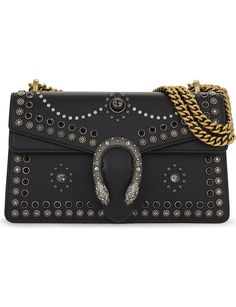 GUCCI Dionysus small leather studded shoulder bag