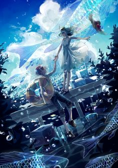 Image in anime-manga couple♥︎ collection by zillion Manga Anime, Manga Art, I Love Anime, Awesome Anime, Desu Desu, Anime Galaxy, Image Manga, Anime Kunst, Animation