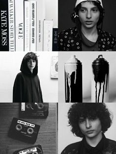 Finn Wolfhard wallpaper black and white •Made by Zoomer S.W•