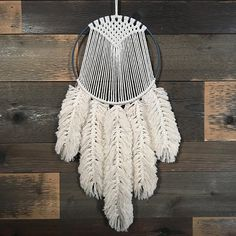 This is a photo tutorial in which you will learn how to make macrame feathers. You can use them in just about any of your macrame projects! Just a reminder that this is a digital file only and no physical material will be shipped to you. If you need assistance retrieving your Instant
