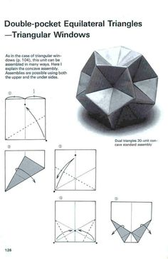 Adobracya: Diagrama Do Kusudama Triangular Windows                                                                                                                                                                                 Mais