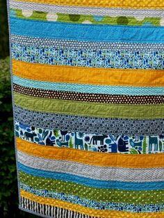 Four Corners Strip Quilt | Strip quilts, Corner and Blog : stripe quilt pattern - Adamdwight.com
