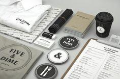 Five & Dime Restaurant Branding by Bravo Company