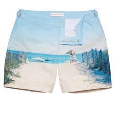 ab5ac12f7d Bulldog - Hamptons Beach Photographic Mid-Length Swim Shorts | Orlebar Brown