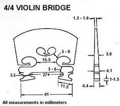Resultado de imagen de violin measurements