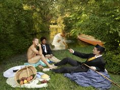 Ode to Manet's Dejeuner sur l'herbe by E2