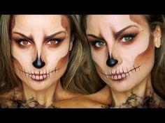 MAQUILLAJE HALLOWEEN 2016: Caracterización de calavera / esqueleto FÁCIL skull makeup | La shatunga
