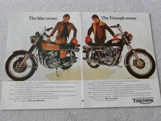 Ouch. Cycle Magazine ad Triumph ran in the '70s.