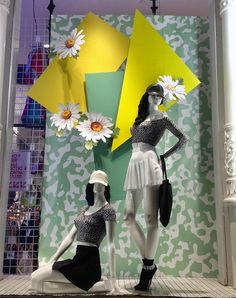 """American Apparel NY,""""Absolute 80's"""",babydoll dresses and daisies,pinned by Ton van der Veer"""