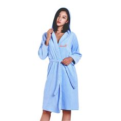 Luxury Cotton Hooded Robe Personalized Embroidered Solid Spa Terry Hooded Robes #MMY #Bathrobe