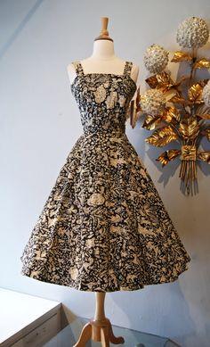 Vintage 50s Novelty Print Mexican Dress Set by xtabayvintage, $148.00